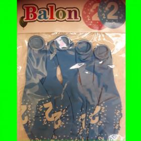 Balony cyfry-2 niebieskie-30 cm