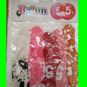Balon cyfry-5 dzw-30 cm