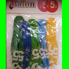 Balony cyfry-5 chł-30 cm