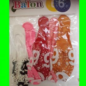 balon-cyfra-6- dzw-30 cm