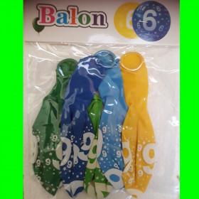 balon-cyfra-6 chł-30 cm