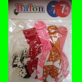 Balon cyfra-7- dzw-30 cm