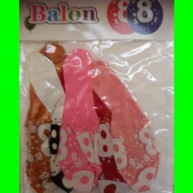 Balon cyfra -8- dzw-30 cm
