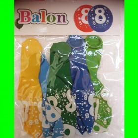 Balon cyfra -8- chł-30 cm