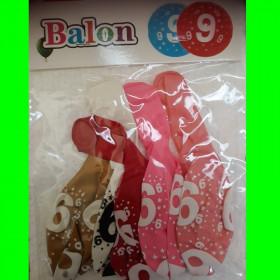 Balon cyfra -9- dzw-30 cm