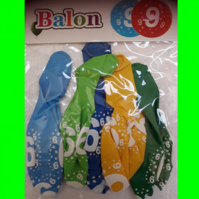 Balon cyfra-9-chł-30 cm