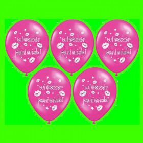 Balon wieczór panieński -różowy- op-5 szt