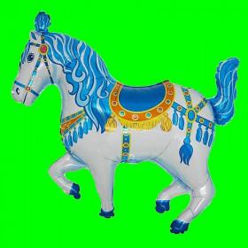 Balon koń cyrkowy niebieski