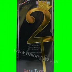 Topper na tort - 2 złote