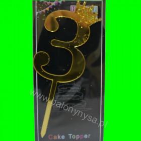 Topper na tort - 3 złote