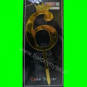 Topper na tort - 6 złoty