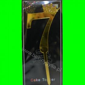 Topper na tort - 7 złoty