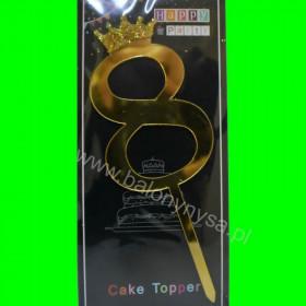 Topper na tort - 8 złoty