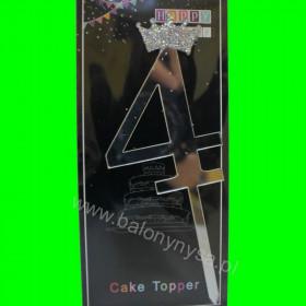 Topper na tort - 4 srebro