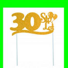 Topper na tort - 30 złota