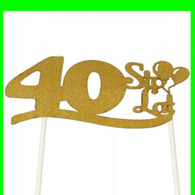 Topper na tort - 40 złota