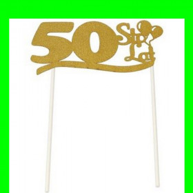Topper na tort - 50 złota