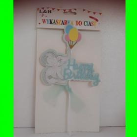 Topper na tort - Słoń niebieski