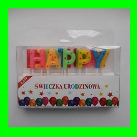 Świeczki Happy - kolorowe
