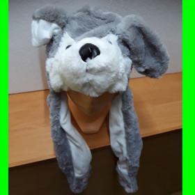 Czapka Pies szary - ruchome uszy