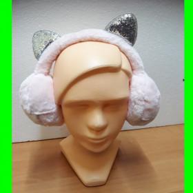 Nausznik różowy srebrne uszy - regulowany