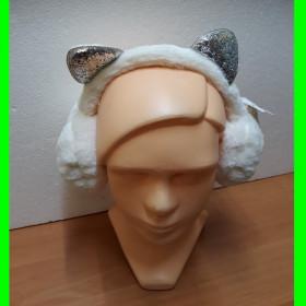 Nausznik biały szare uszy - regulowany