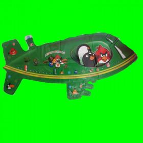 Balon Samolot  Angry zielony