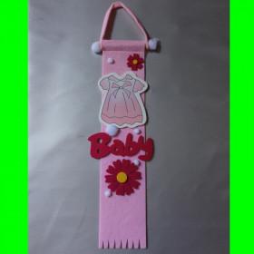 Zawieszka różowa-sukienka