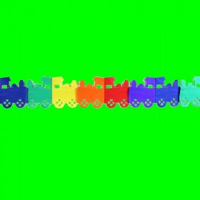 Girlanda lokomotywa-kolorowa-3m