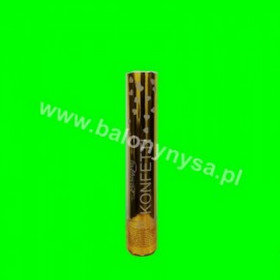Tuba- konfetti  złote -serduszka - 30cm