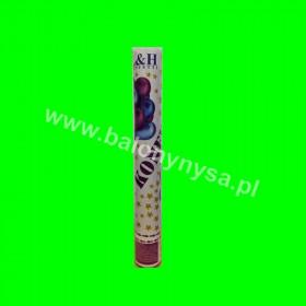 Tuba konfetti-60 cm   -gwiazdki złote