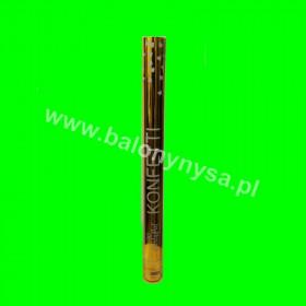 Tuba konfetti-60 cm- złote  serduszka