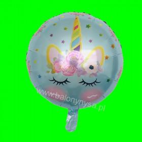 Balon śpiący  Jednorożec niebieski