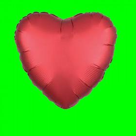 Balon serce czerwone matowe-45 cm