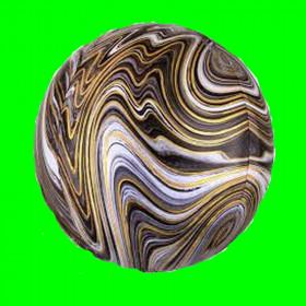 Balon okrągły czarny marmurek