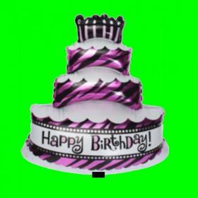 Balon tort urodzinowy happy-98 cm
