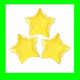 Balon gwiazda na patyk złota 26cm 3 szt