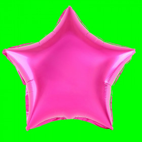Balon gwiazda fuksja