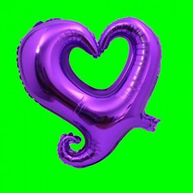 Balon Serce na powietrze fioletowe