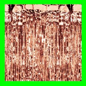 Kurtyna różowe złoto-2 m