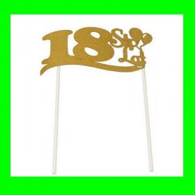 Topper na tort - 18 złota