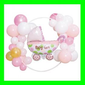 Girlanda balonowa narodzenie dziewczynki