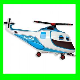 Balon włoski-helikopter niebieski-30 cm