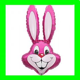 Balon włoski królik różowy-90 cm