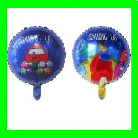 Balon Amog us- niebieski