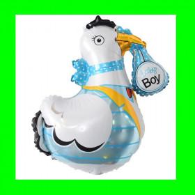 Balon bocian niebieski