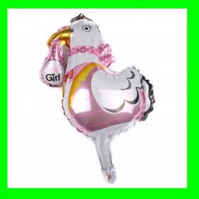 Balon bocian różowy-90 cm
