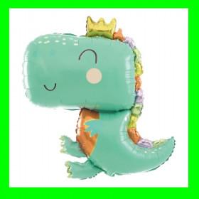 Balon dino-zielony