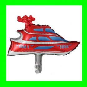 Balon statek  czerwony-30 cm