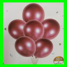 Balon chrom rose gold-op-6 szt
